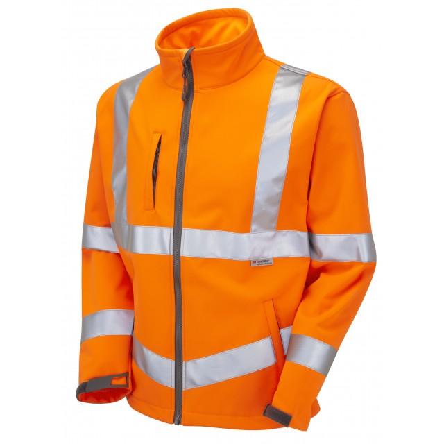 Large Hi-Viz Orange Pulsarail SoftShell Jacket
